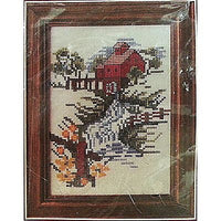 "Watermill Counted Cross Stitch Kit 5"" x 7"" Landscape River Country Bucilla c827"