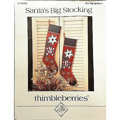 Santas Big Stocking Pattern 12x27 in Holiday Sew Big Quilts Thimbleberries C106