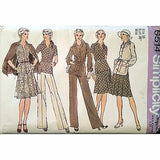 Misses Jacket Dress Pants Simplicity 6514 Pattern Vintage 1974 Size 16 c1136