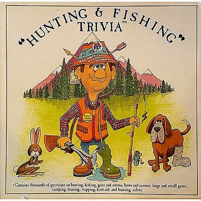 Hunting Fishing Trivia Board Game Guns Bows Camping Mountainman Enterprises m142