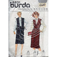 Misses Vest Skirt Burda 8831 Pattern Vintage Size 12-40 Sewing c650