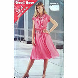 Misses Dress Belt Butterick 3804 Pattern Vintage 1980s Size 14 16 18 c1381