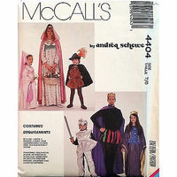 Medieval Costume Package McCalls 4404 Pattern Vintage 1989 Size 7/8 Schewe c1117
