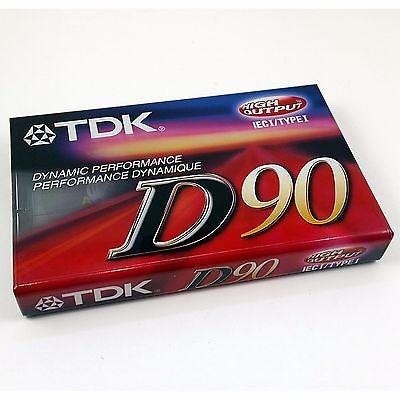 TDK D90 High Output Audio Cassette Lot of Two 1ECI Type I Sealed o146