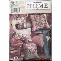 Pillows Twelve Styles Simplicity 8044 Pattern 1998 Home Decor c1175