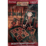 Cabin Lights Quilt Pattern Santa Holiday Christmas Tree Fiber Mosaics c846