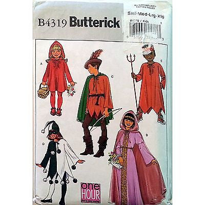 Childs Halloween Costumes Pattern Butterick B4319 2004 Size S M c1038