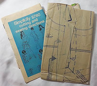 Misses Two Piece Dress Simplicity 8780 Pattern Vintage 1970 Size 10 Sewing c445