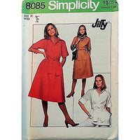 Misses Pullover Dress Top Pattern Simplicity 8085 Vintage 1977 Size 12 c1024