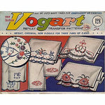 Lot of Vogart Repeat Transfers Vintage 1950's Embroidery Painting Linen Home vo6