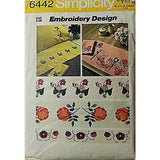 Embroidery Transfer Pattern Vintage 1974 Flowers Sewing Simplicity 6442 c427
