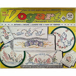 Lot of Vogart Repeat Transfers Vintage 1950's Embroidery Painting Linen Home vo7