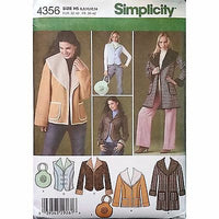 Misses Coat Jacket Vest Bag Simplicity 4356 Pattern 2005 Size 6 8 10 12 14 c1153