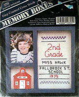 School Memory Boxes Counted Cross Stitch Kit Frame Easy Banar Designs 4x4 c199