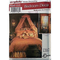 Canopy Duvet Pillow Curtain Bedroom Decor Simplicity 5315 Pattern 2003 c912