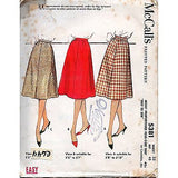 Misses Four-Gore Flared Skirt McCalls 5381 Pattern Vintage 1960 Size 32 c644