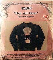 Hot Air Bear Applique Kit 3-D Children's Sweatshirt Embellishment Vintage c306