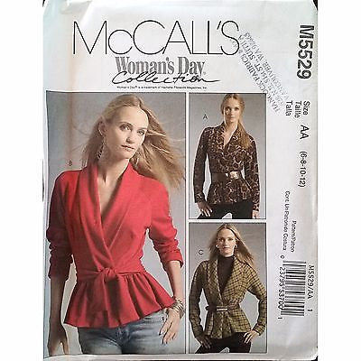 Misses Wrap Jackets Belt McCalls M5529 Pattern 2007 Size 6-12 Womans Day c1313