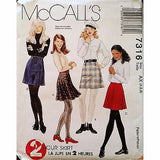 Misses Skirts McCalls 7316 Pattern Vintage 1994 Size 4 6 8 Flared A Line c1204