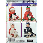 Childs Dog Accessories Hat Simplicity 0637 Pattern 2006 Winter Sewing c720