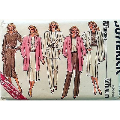 Jacket Skirt Pants Top Pattern Butterick 3987 Vintage 1986 Size 14 16 18 c1043