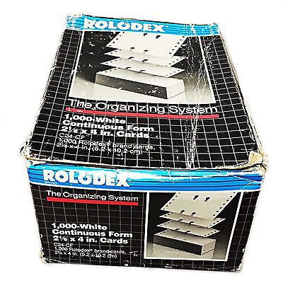 "Rolodex White Continuous Form Cards C24-CF 2 1/6 x 4"" Business Contact o120"