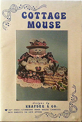 Cottage Mouse Doll Pattern 10 inch Mama Babies Apron Free Standing Krafdee c276