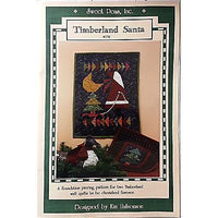 Timberland Santa Quilt Pattern Wall Hanging Rustic Primitive Holiday Decor  C117