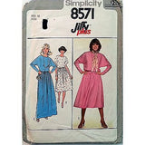 Misses Jiffy Pullover Dress Pattern Simplicity 8571 Vintage 1977 Size 12 c1032
