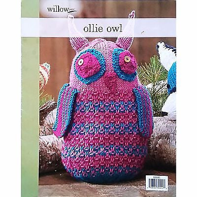 Ollie Owl Knit Project Pattern Willow Yarns Leaflet Stuffed Toy Doll c1440