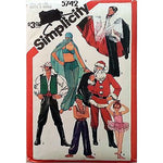 Boys Girls Costumes Pattern Simplicity 5742 Vintage 1982 Size 10-12 c1033