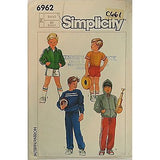 Childs Sports Jacket Tops Pants Shorts Simplicity 6962 Pattern Cut Size 4 c661