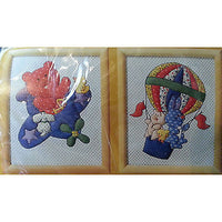 Flights Fantasy Needlepoint Kit Vintage Balloon Plane 8x10 Creative Circle c220