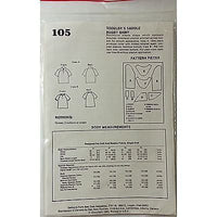Childrens Toddlers Saddle Rugby Shirt Sew Easy 105 Vintage Pattern c758
