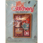 Girls Memory Box Kit Vintage 5 x 7 inch Crewel Embroidery Jiffy Stitchery c476