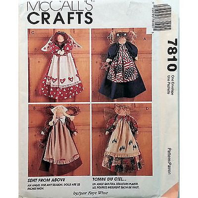 "Angels Doll Clothes Pattern McCalls 7810 Craft 1995 22"" Faye Win e c1055"