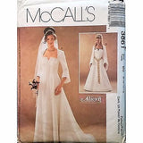 Misses Lined Dress Medieval Wedding Pattern McCalls 3861 2002 Size 8-14 c1399