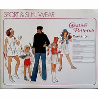 Creative Patterns Christmas Costumes Summer Sports Books Vintage 1970s c1550
