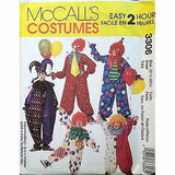 Clown Costumes Halloween Party McCalls 3306 Pattern 2001 SIze Small c1392