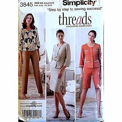 Miss Pants City Shorts Skirt Jacket Simplicity 3845 Pattern Size 10 c1492