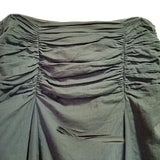 Sage Green Godet Skirt Love & Let Love Womens Size 7 Sequined Shirred Waist f642