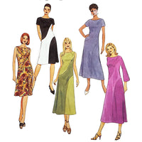 Misses Bias Dresses McCalls M4510 Sewing Pattern Size 12 14 16 18 c2064