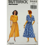 Misses Top Skirt Butterick 5442 Sewing Pattern Vintage 1991 Size 12-16 c1919