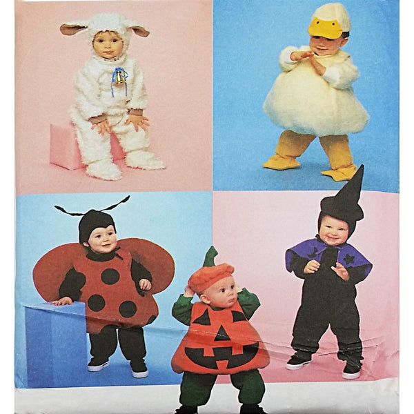 Toddlers Costumes Simplicity 9318 Sewing Pattern Size 1/2-4 Animal Bug c2123