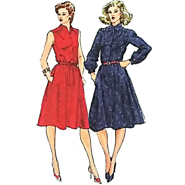 Misses Pullover Shirtdress Simplicity 5242 Sewing Pattern Size 18-20 c1958