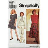 Misses Skirt Pants Top Tie Simplicity 8045 Sewing Pattern Size 12-18 c1943