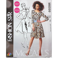 Misses Dresses Scarf McCalls M6599 Sewing Pattern Fashion Star c1736