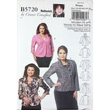 Womans Jacket Butterick B5720 Sewing Pattern 2011 Size XXL-6X c2021