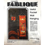 Notions Nook Useful Pocket Wall Hanging Sewing Fablique Carousel Vintage c1951