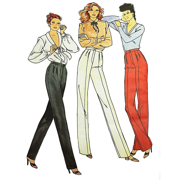 Misses Pants Butterick 6764 Vintage Sewing Pattern Size 16 c2037